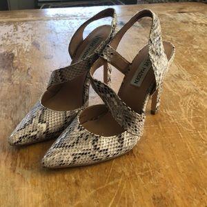 Steve Madden snake skin pointed toe heels